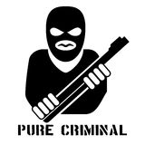 Criminal person logo Royalty Free Stock Photos