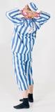 Criminal or prisoner costume Stock Photo