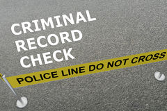 Criminal Record Check concept Stock Photo
