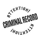 Criminal Record rubber stamp. Grunge design with dust scratches. Effects can be easily removed for a clean, crisp look. Color is easily changed Stock Photo