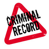 Criminal Record rubber stamp Stock Photo