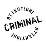 Criminal rubber stamp Royalty Free Stock Images