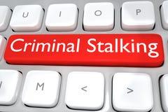 Criminal Stalking concept Stock Image