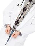 Criminal surgeon - Concept of failure in health care Stock Image
