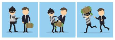 Criminal thief set. Stock Photography