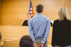 Criminal waiting for courts ruling Stock Images