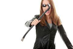 Criminal young female Royalty Free Stock Photo