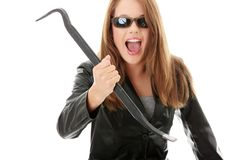 Criminal young female Royalty Free Stock Photos
