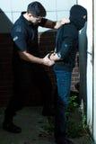 Criminale carente d'ammanettamento Fotografia Stock Libera da Diritti