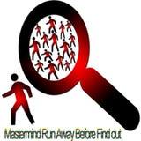 Criminale del ritrovamento-fuori Immagine Stock Libera da Diritti