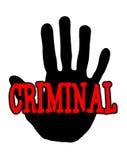 Criminale di Handprint Immagini Stock Libere da Diritti