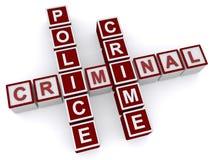 Criminale, polizia, crimine fotografie stock