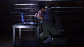 Criminales cibernéticos arrestados acusación del crimen cibernético metrajes