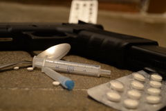 Criminalidad y drogas foto de archivo libre de regalías