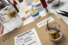 Criminalistic laboratorium, w?osiana analiza fotografia stock