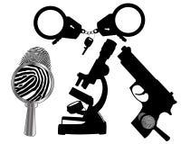 Criminalistics Fotografie Stock Libere da Diritti