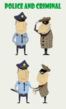 Criminals caught by the police Royalty Free Stock Photos