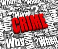 Crimine Fotografia Stock Libera da Diritti