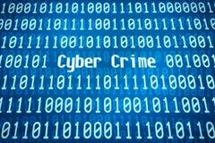 Crimine cyber Fotografia Stock
