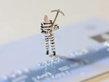Crimine della carta di credito Fotografia Stock Libera da Diritti