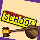 Crimine della scuola Immagini Stock