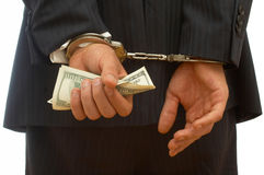 Crimine di affari Fotografie Stock Libere da Diritti