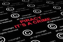 Crimine di pirateria fotografie stock libere da diritti