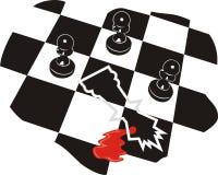 Crimine di scacchi Fotografia Stock Libera da Diritti