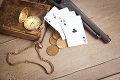 Crimine, soldi, giocanti Immagine Stock