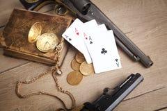 Crimine, soldi, giocanti Immagine Stock Libera da Diritti