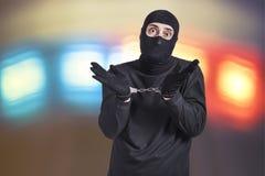 Criminel arrêté Photo stock