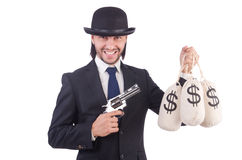 Criminel d'homme d'affaires Image libre de droits