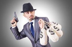 Criminel d'homme d'affaires Images libres de droits