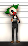 Criminel de photo de clown Photographie stock