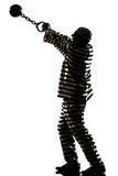 Criminel de prisonnier d'homme avec la bille à chaînes Photos stock