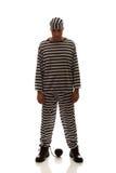 Criminoso caucasiano do prisioneiro do homem com bola chain Foto de Stock Royalty Free
