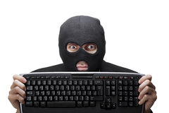 Criminoso da tecnologia imagem de stock royalty free