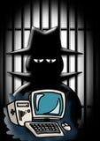 Criminoso de computador Imagens de Stock Royalty Free
