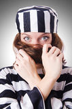 Criminoso de condenado Fotografia de Stock Royalty Free