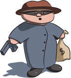 Criminoso de Lil Imagens de Stock