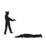 Criminoso, delinquente e agente da polícia Imagem de Stock Royalty Free