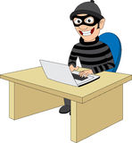 Criminoso do Cyber ilustração do vetor