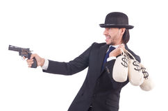 Criminoso do homem de negócios Foto de Stock