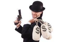 Criminoso do homem de negócios Imagens de Stock
