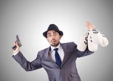 Criminoso do homem de negócios Imagem de Stock