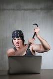 Criminoso do Internet Imagens de Stock Royalty Free