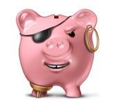 Criminoso financeiro ilustração stock
