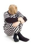 Criminoso idoso no terno da cadeia Imagens de Stock