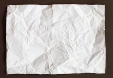 Crimp White Paper texture sheet. Background brown Stock Photography