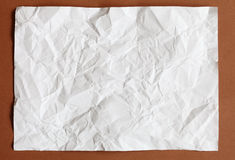 Crimp White Paper texture sheet. Background brown Royalty Free Stock Photos